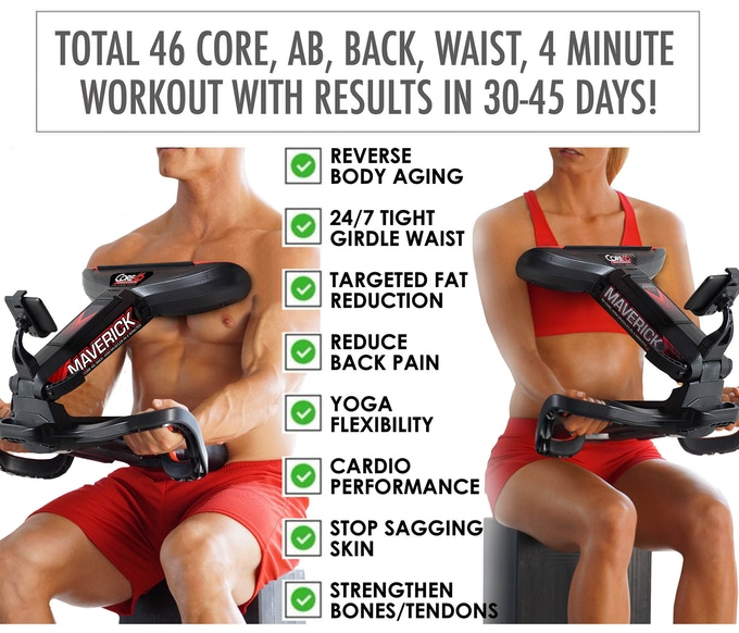 CORE SMART GYM- IMPACT BELLY FAT, LOW BACK & ABD's-GadgetAny