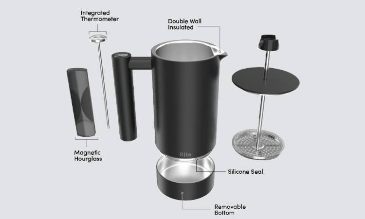 Rite Press -The 'No Mess' French Press-GadgetAny