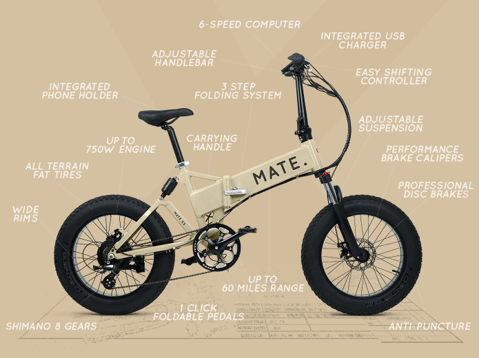 MATE X: Most affordable fully-loaded folding eBike-GadgetAny