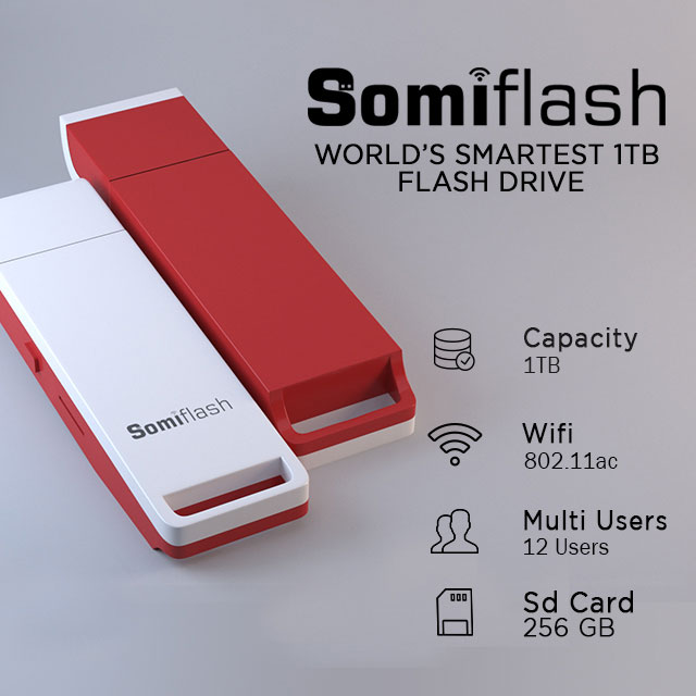 World's Smartest 1TB flash Drive: Somiflash-GadgetAny
