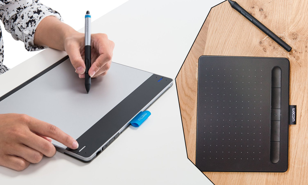 Wacom Intuos touch tablet and pen stylus