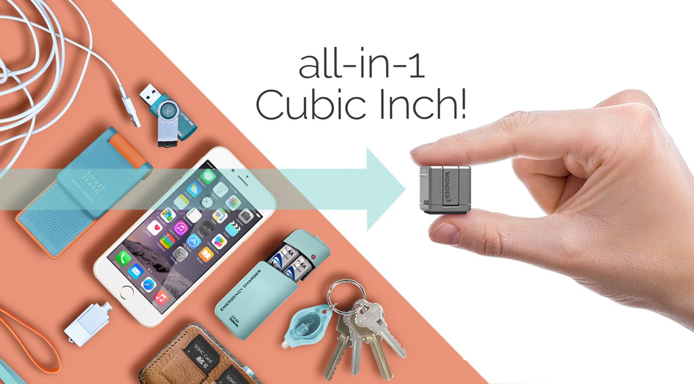 WonderCube Pro – Mobile Essentials in 1 Cubic Inch-GadgetAny