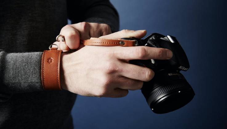 Adjustable Leather Wrist Strap-GadgetAny