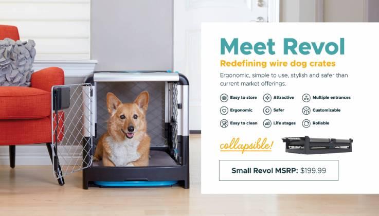 Diggs Revol Foldable Dog Crate-GadgetAny