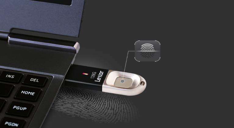 Lexar 64 GB Black/Silver Flash Drive-GadgetAny