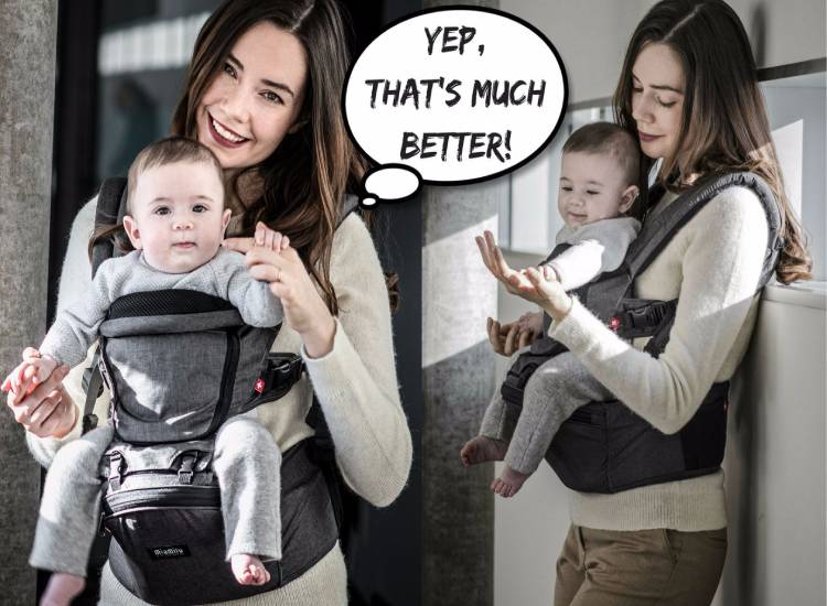 MiaMily HIPSTER 3D Hip Seat Baby Carrier-GadgetAny