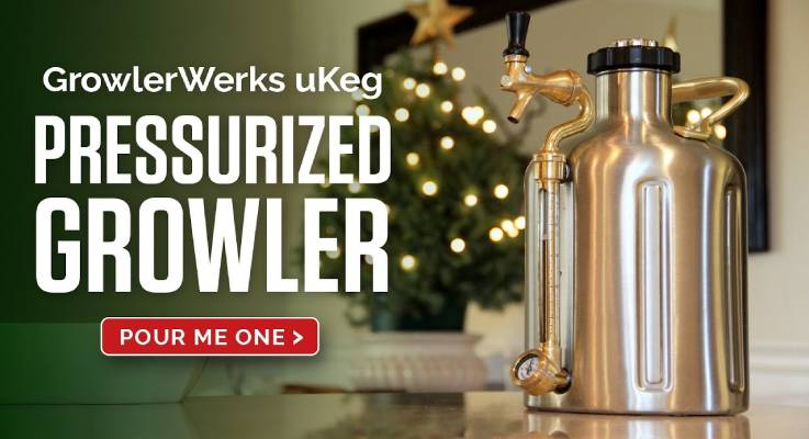 Pressurized Craft Beer Growler-GadgetAny