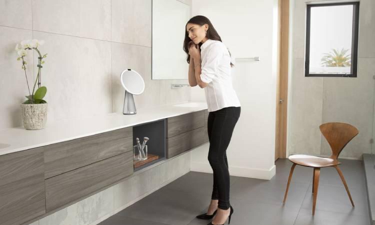 Simplehuman Sensor Mirror Hi-Fi With Google Assistance-GadgetAny