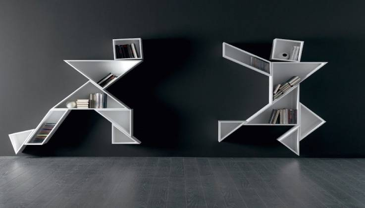 Tangram Bookcase by Lago Italy-GadgetAny
