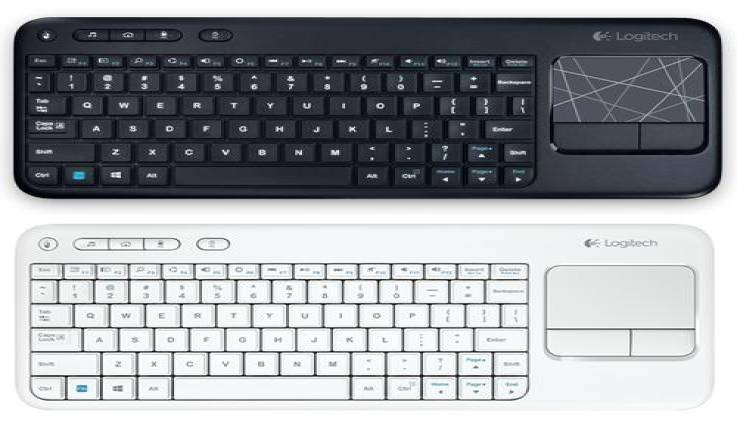 Wireless Keyboard Along with Multi-Touch Keyboard-GadgetAny