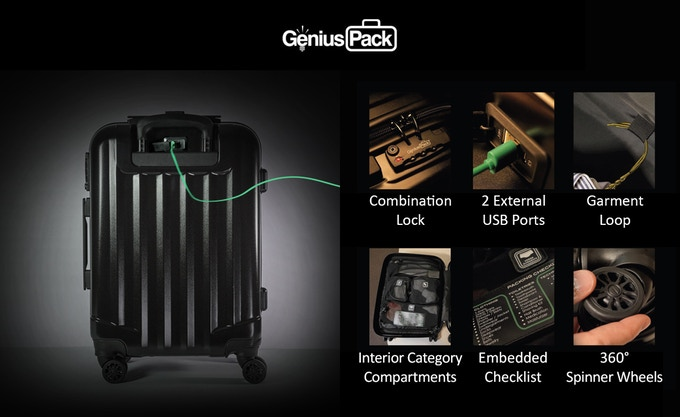 Genius Pack Supercharged: A Smarter Travel Bags-GadgetAny