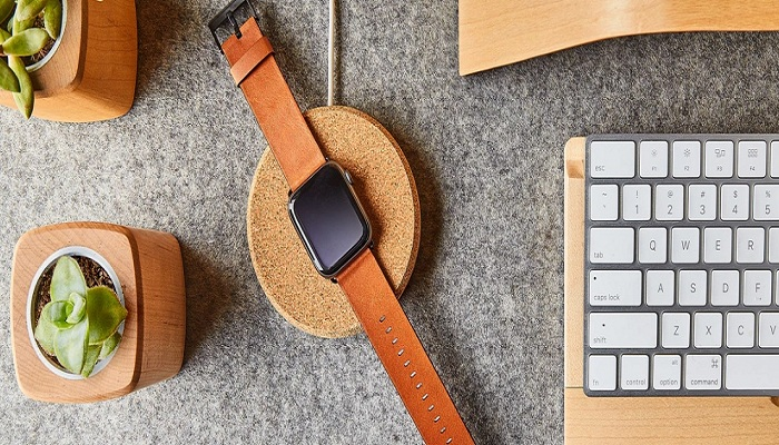 Grovemade: Cork Apple Watch Dock-GadgetAny