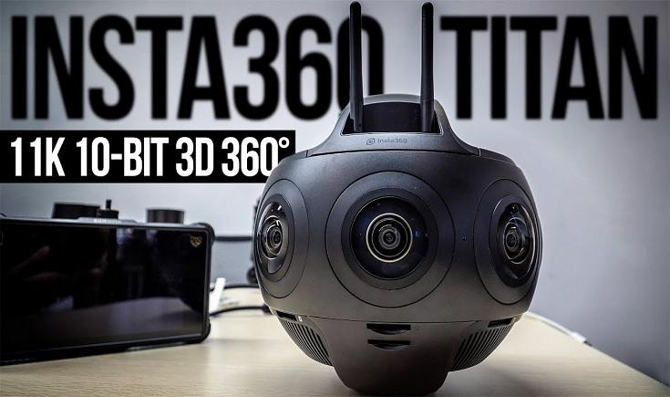 Insta360 Titan Cinematic VR Camera-GadgetAny